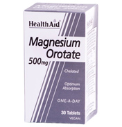 HealthAid Magnesium Orotate 500mg 30 Tablets (1…
