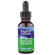 Higher Nature Aloe Gold Herbal Ear Drops 30ml