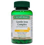 Nature's Bounty Gentle Iron Complex with…