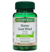 Nature's Bounty Horny Goat Weed 250mg with Maca